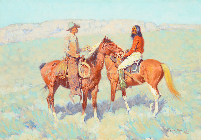 Frederic Remington – Casuals on the Range (1909)